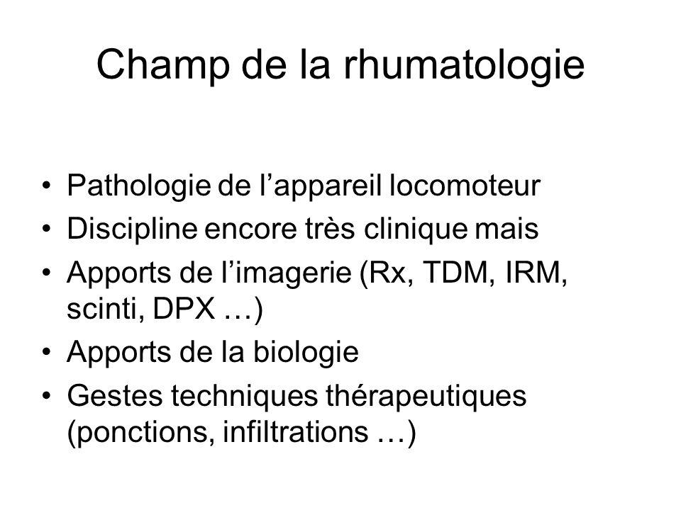 Champ de la rhumatologie