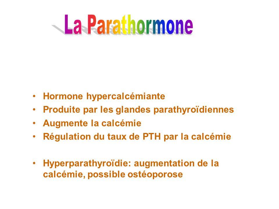 La Parathormone Hormone hypercalcémiante