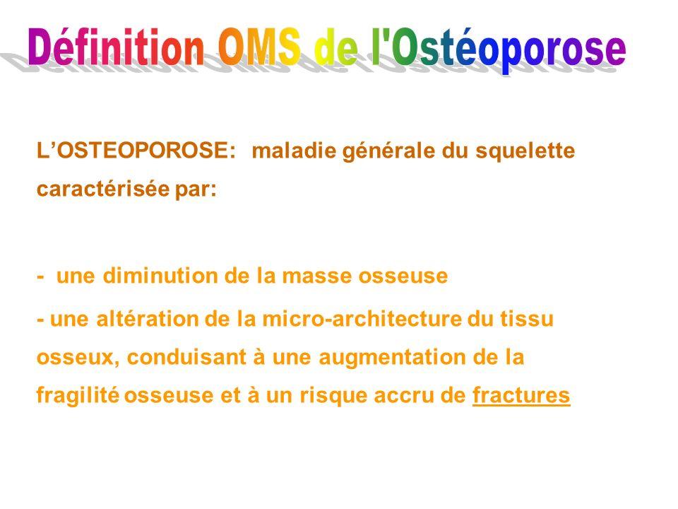 Définition OMS de l Ostéoporose