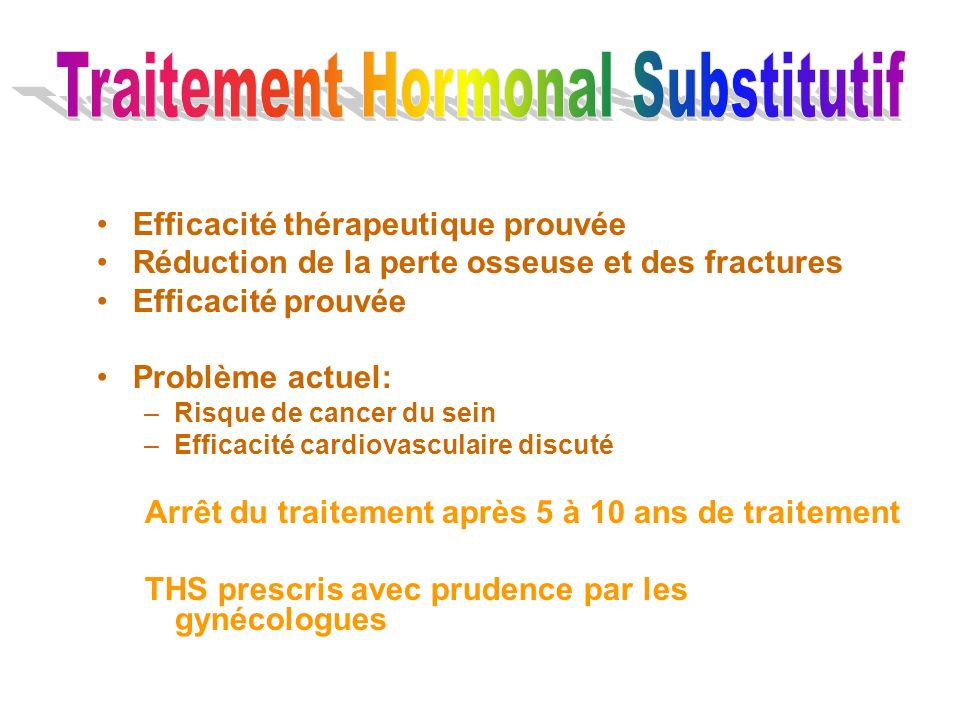 Traitement Hormonal Substitutif