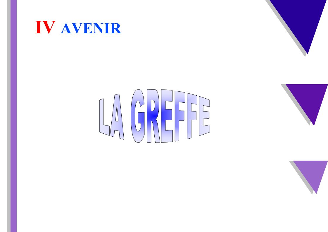 IV AVENIR LA GREFFE