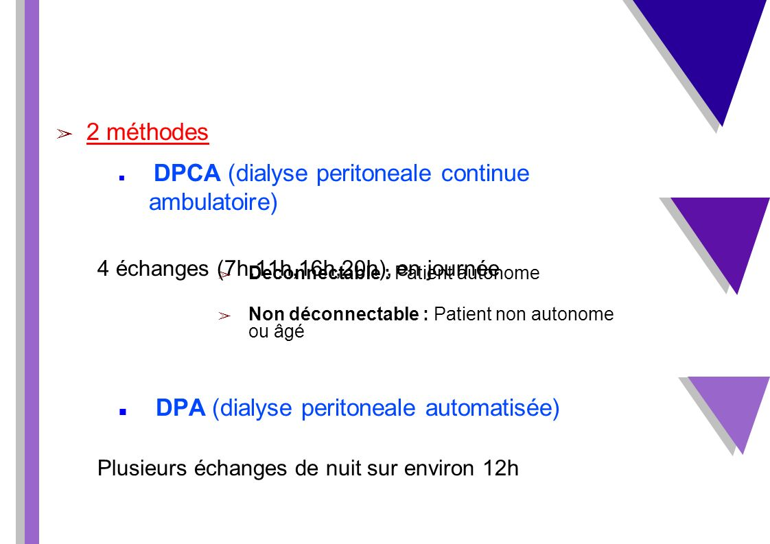 DPA (dialyse peritoneale automatisée)
