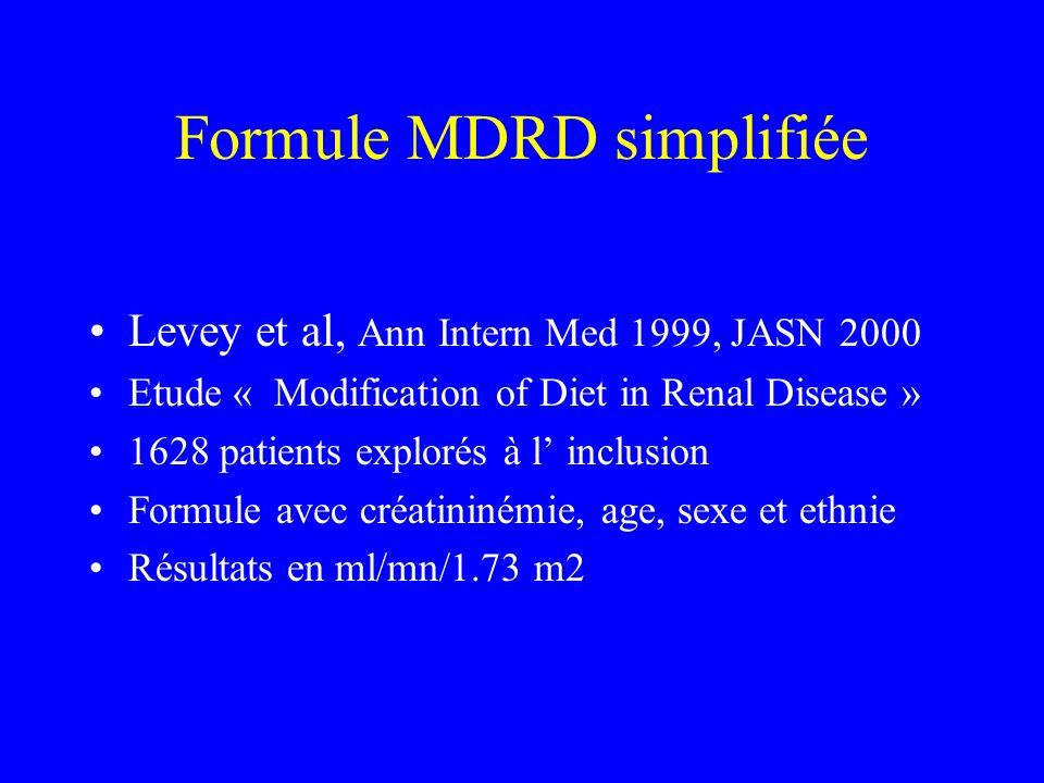 Formule MDRD simplifiée