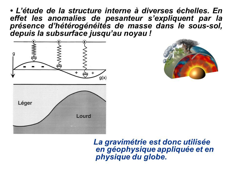 • L'étude de la structure interne à diverses échelles