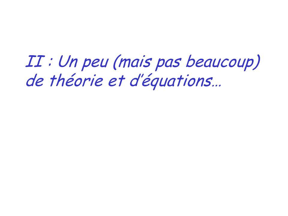 II : Un peu (mais pas beaucoup) de théorie et d'équations…