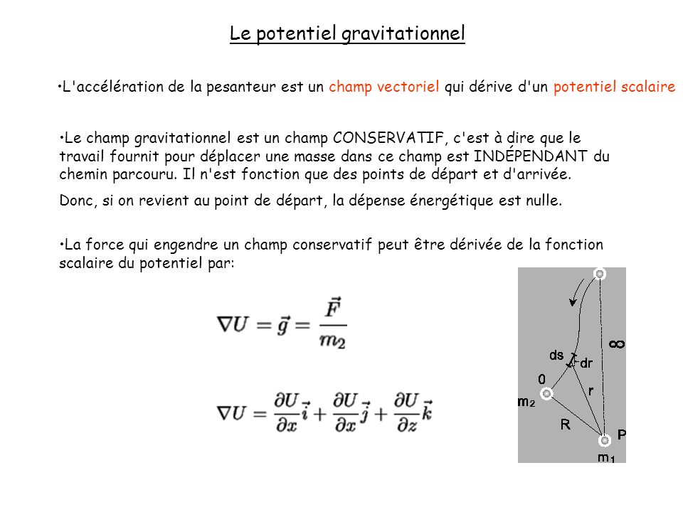Le potentiel gravitationnel