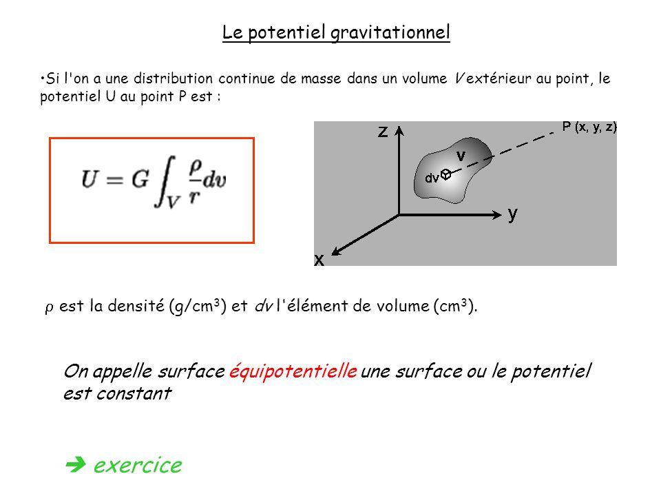 Le potentiel gravitationnel