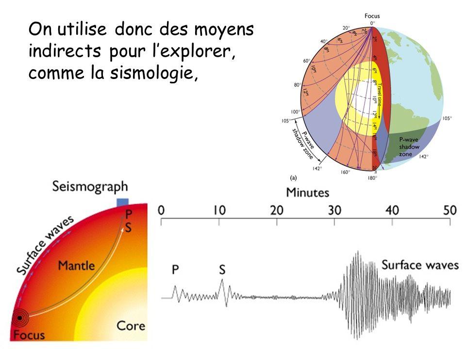 On utilise donc des moyens indirects pour l'explorer, comme la sismologie,