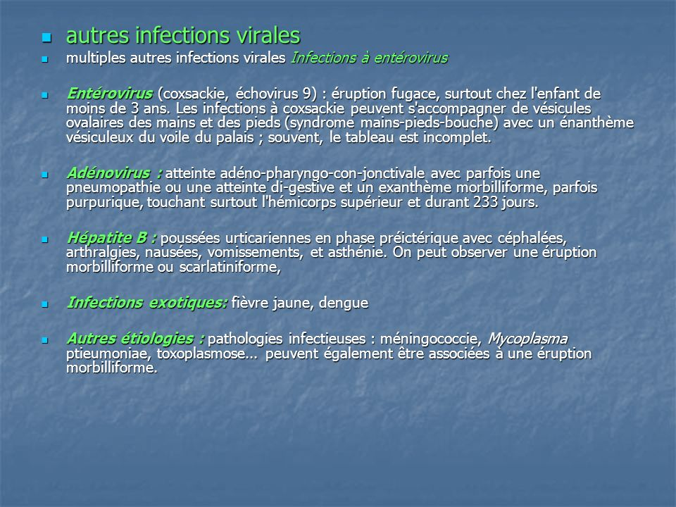autres infections virales