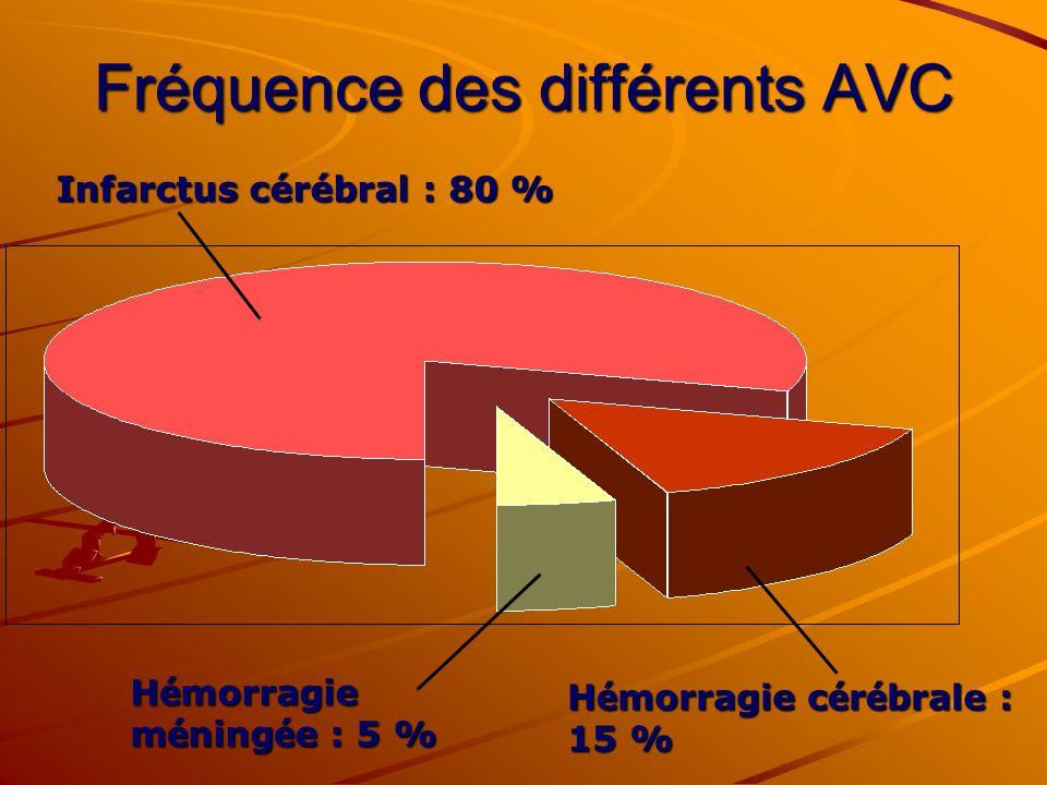Fréquence des différents AVC