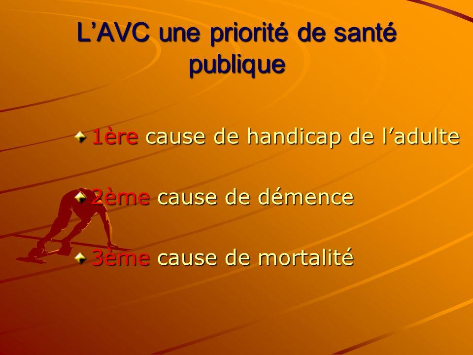 L'AVC une priorité de santé publique