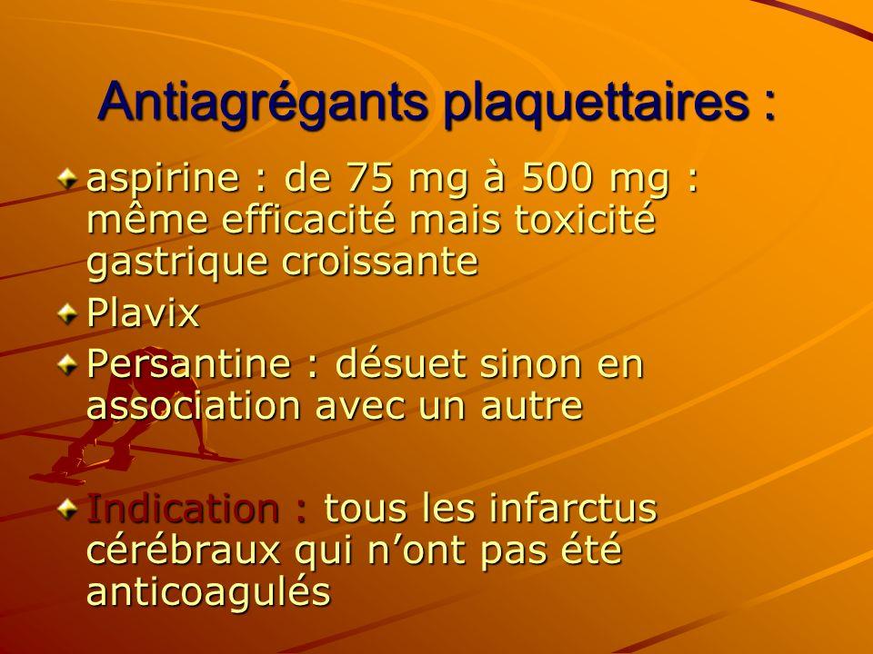 Antiagrégants plaquettaires :