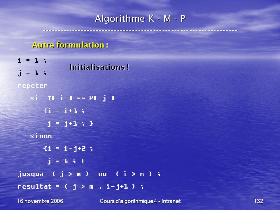 Cours d algorithmique 4 - Intranet