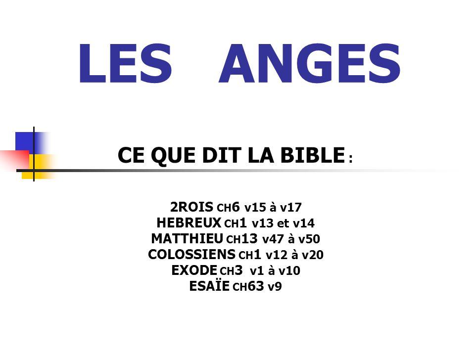 LES ANGES CE QUE DIT LA BIBLE : 2ROIS CH6 v15 à v17