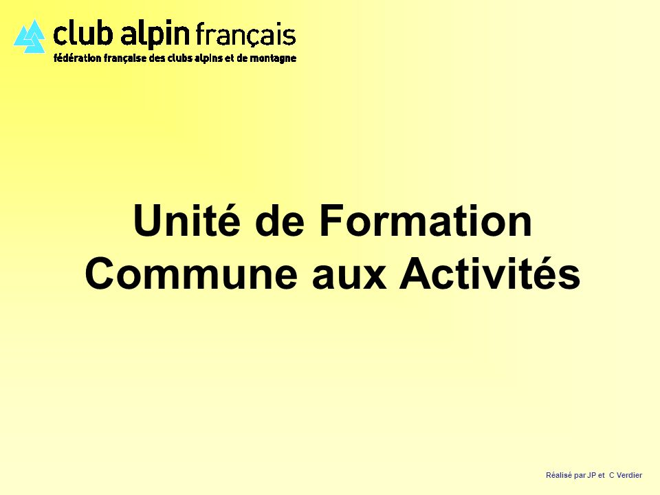Unité de Formation Commune aux Activités