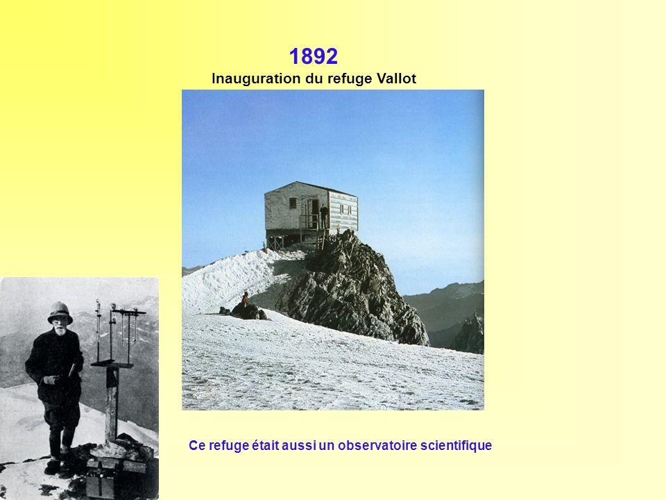 Inauguration du refuge Vallot