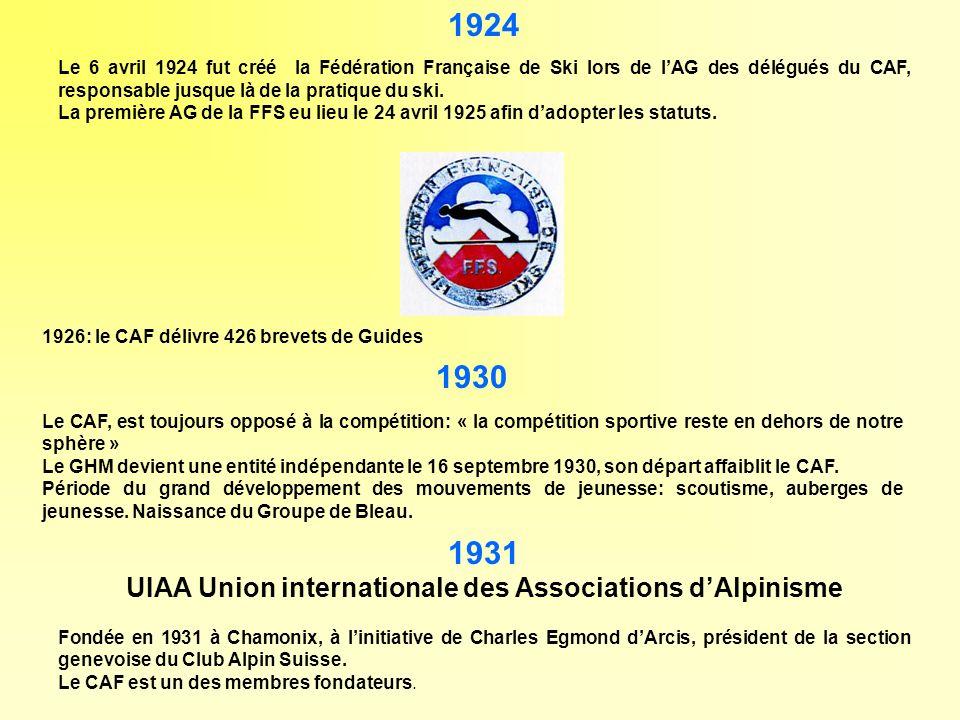 UIAA Union internationale des Associations d'Alpinisme