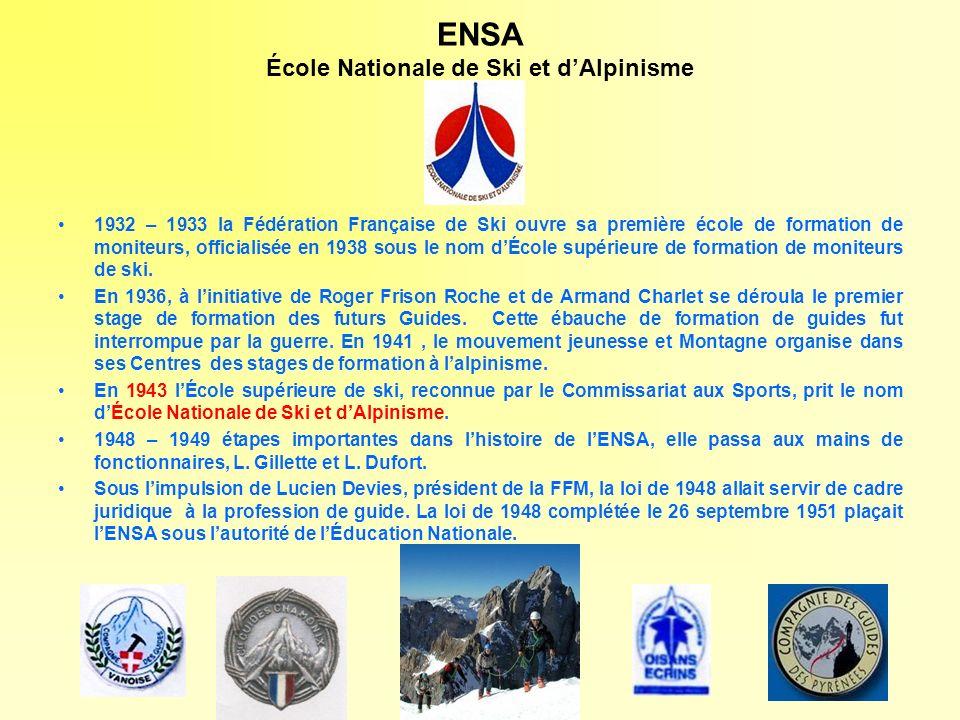 ENSA École Nationale de Ski et d'Alpinisme