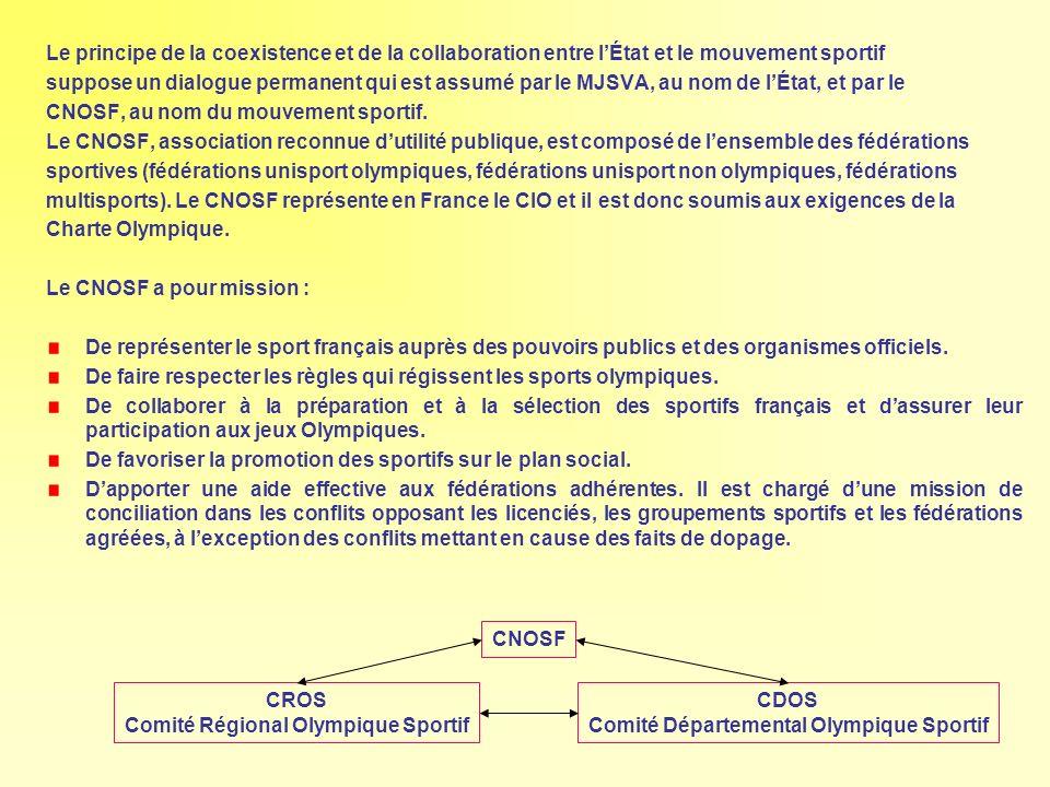 CNOSF, au nom du mouvement sportif.