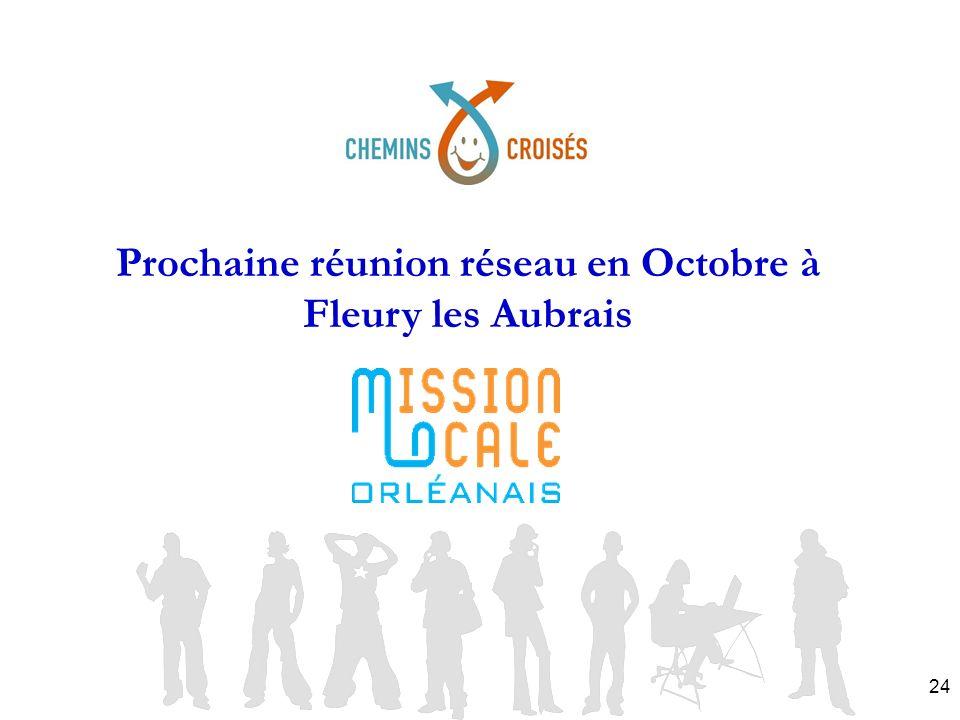 Prochaine réunion réseau en Octobre à Fleury les Aubrais