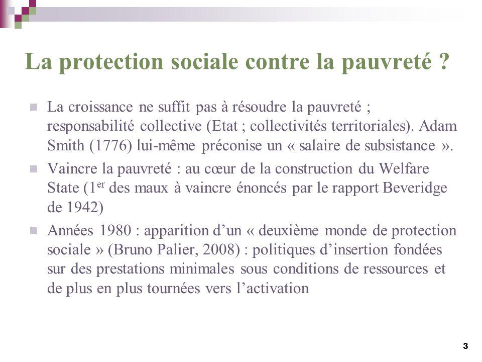 La protection sociale contre la pauvreté