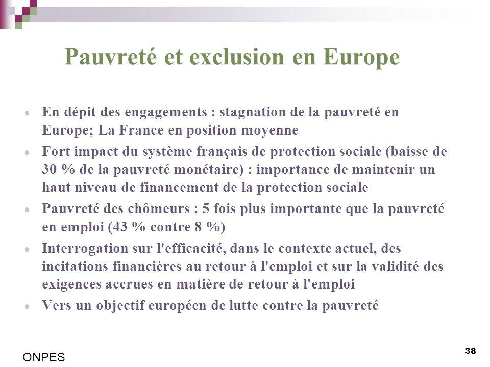 Pauvreté et exclusion en Europe