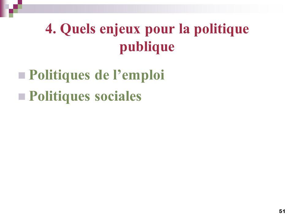 4. Quels enjeux pour la politique publique