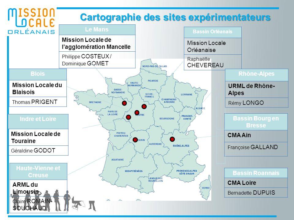 Cartographie des sites expérimentateurs Haute-Vienne et Creuse