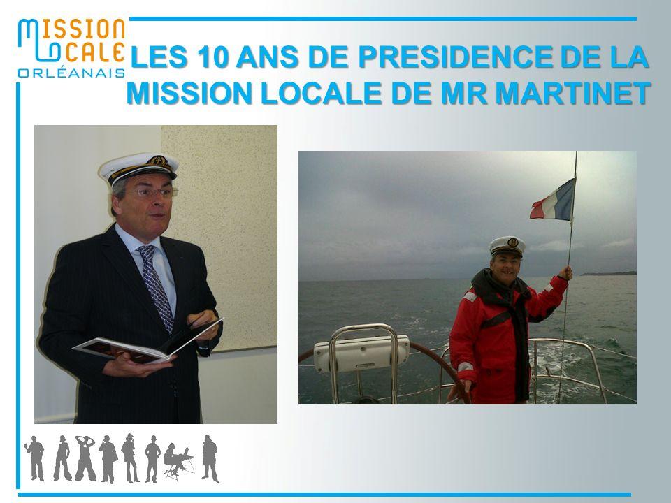 LES 10 ANS DE PRESIDENCE DE LA MISSION LOCALE DE MR MARTINET