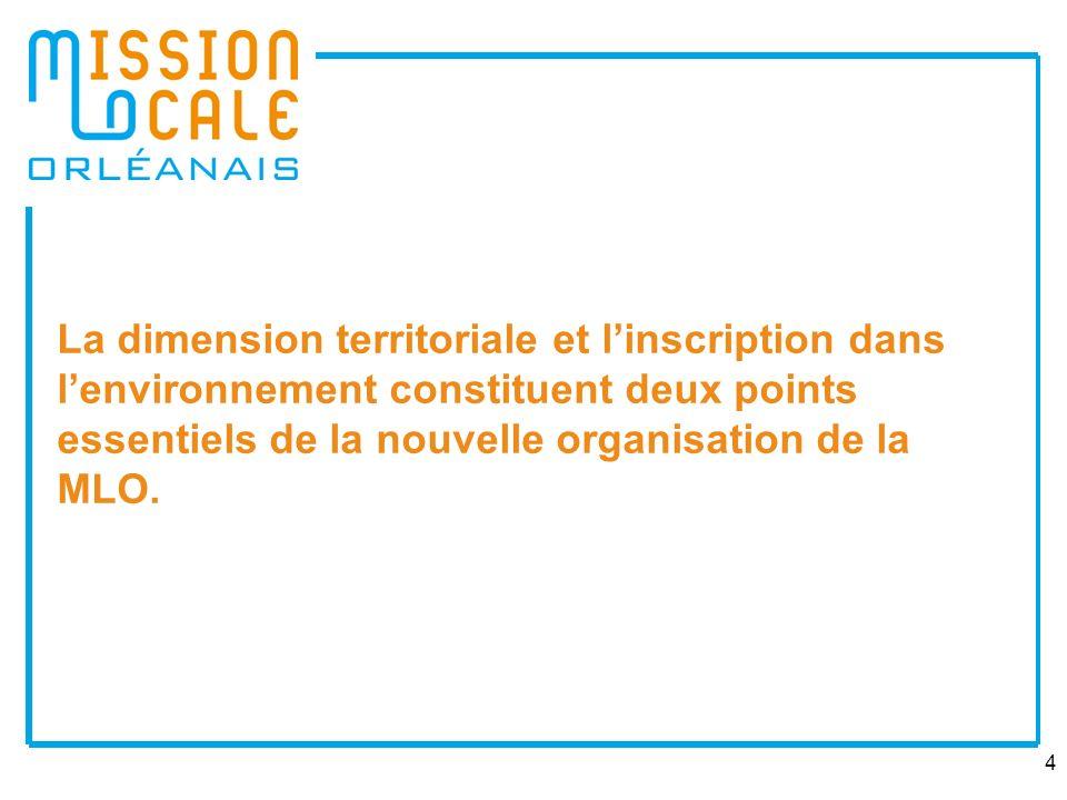 La dimension territoriale et l'inscription dans l'environnement constituent deux points essentiels de la nouvelle organisation de la MLO.