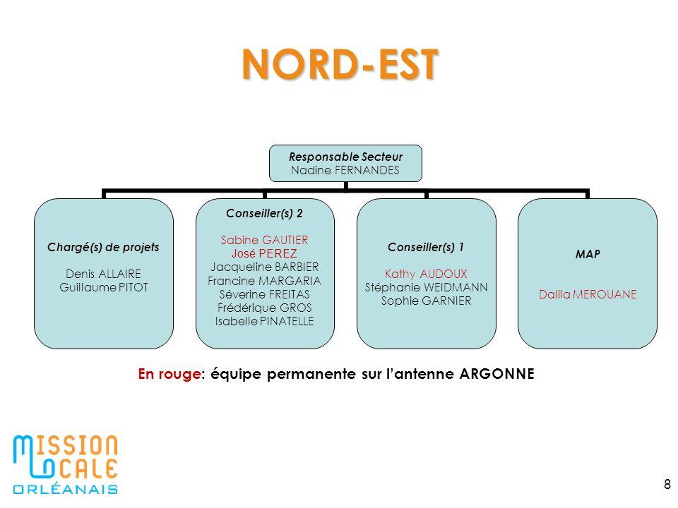 NORD-EST En rouge: équipe permanente sur l'antenne ARGONNE