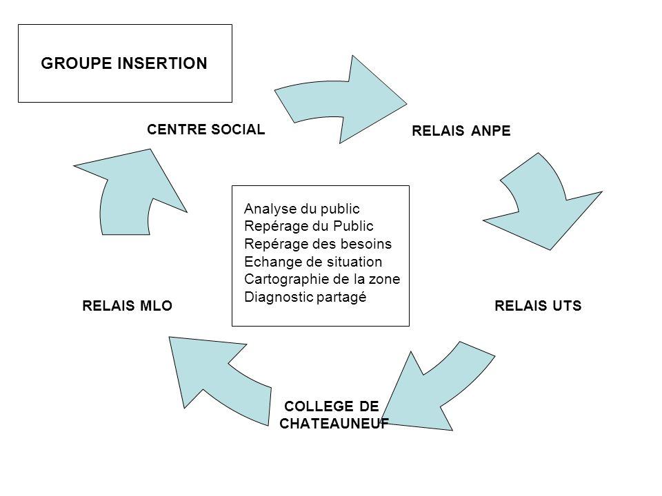 GROUPE INSERTION Analyse du public Repérage du Public