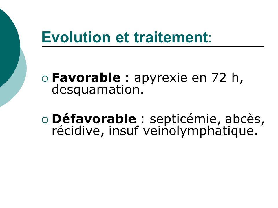 Evolution et traitement: