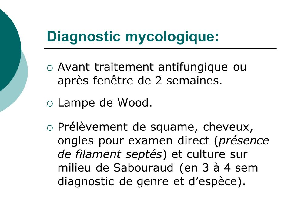 Diagnostic mycologique: