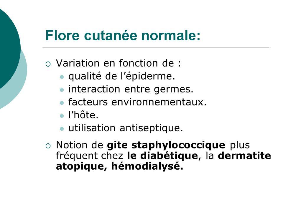 Flore cutanée normale: