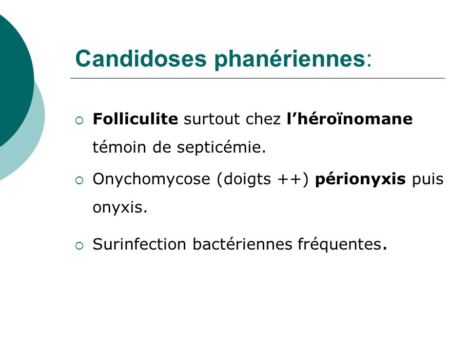 Candidoses phanériennes: