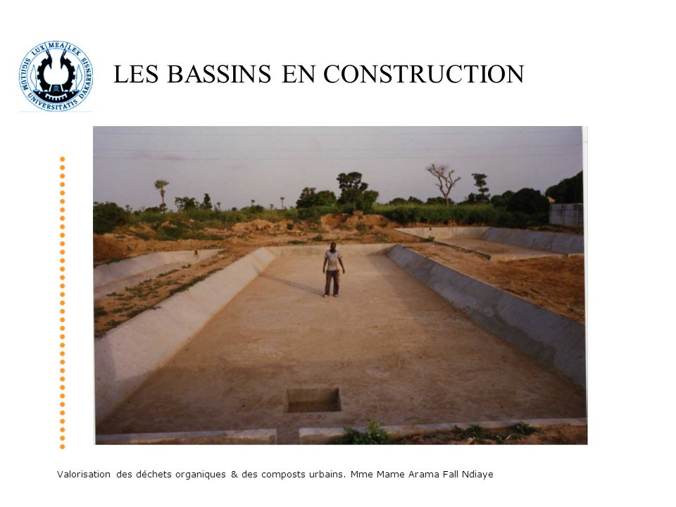 LES BASSINS EN CONSTRUCTION
