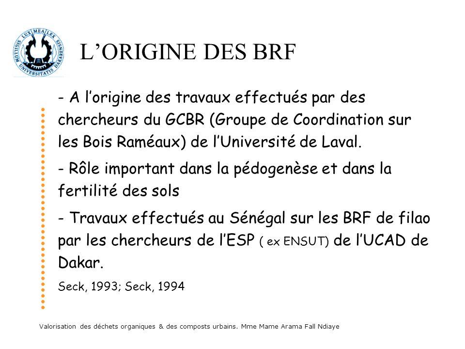 L'ORIGINE DES BRF