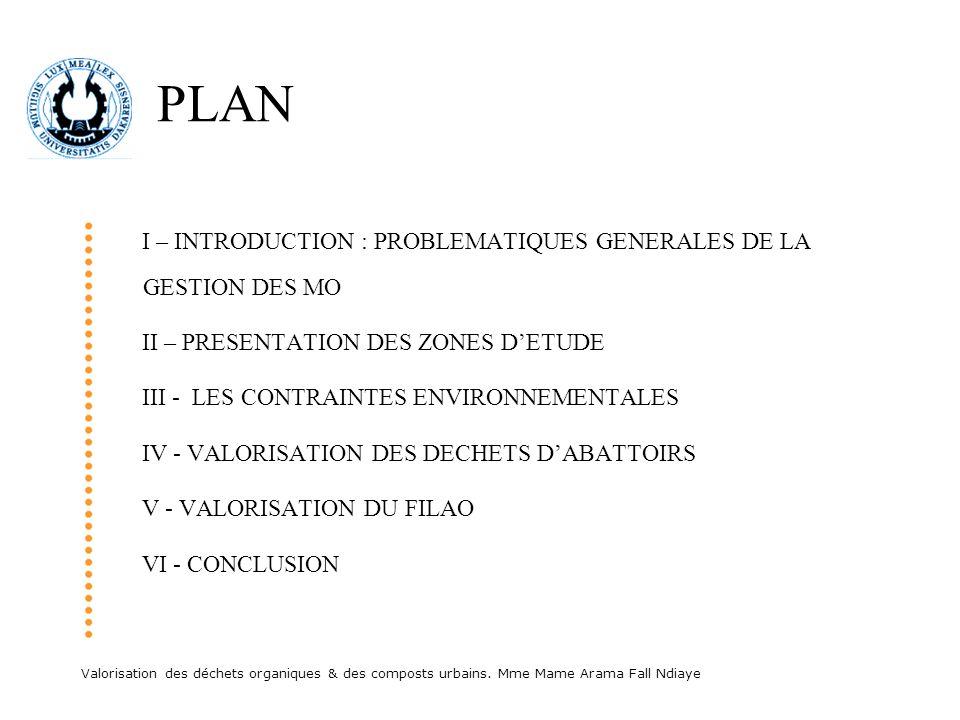 PLAN I – INTRODUCTION : PROBLEMATIQUES GENERALES DE LA GESTION DES MO