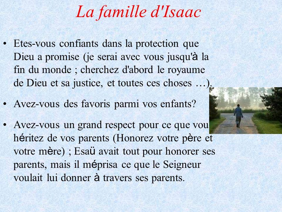 La famille d Isaac