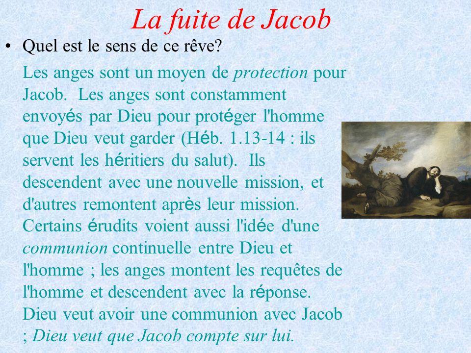 La fuite de Jacob Quel est le sens de ce rêve