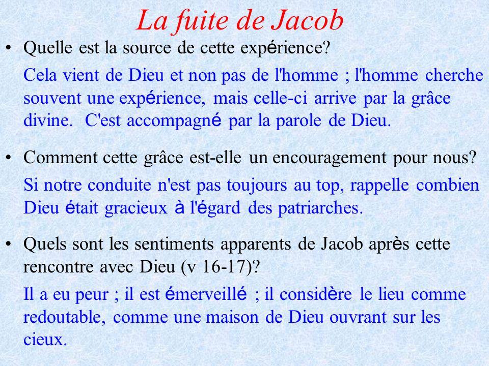 La fuite de Jacob Quelle est la source de cette expérience