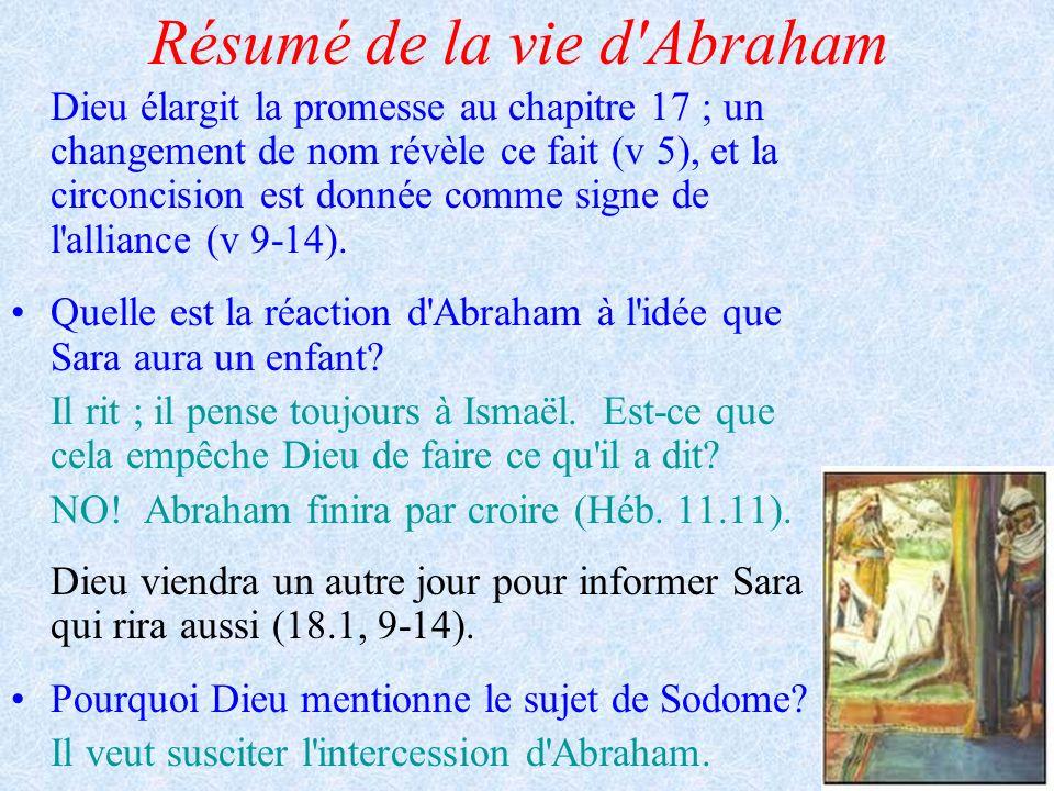 Résumé de la vie d Abraham