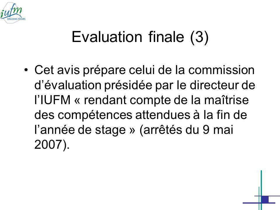 Evaluation finale (3)