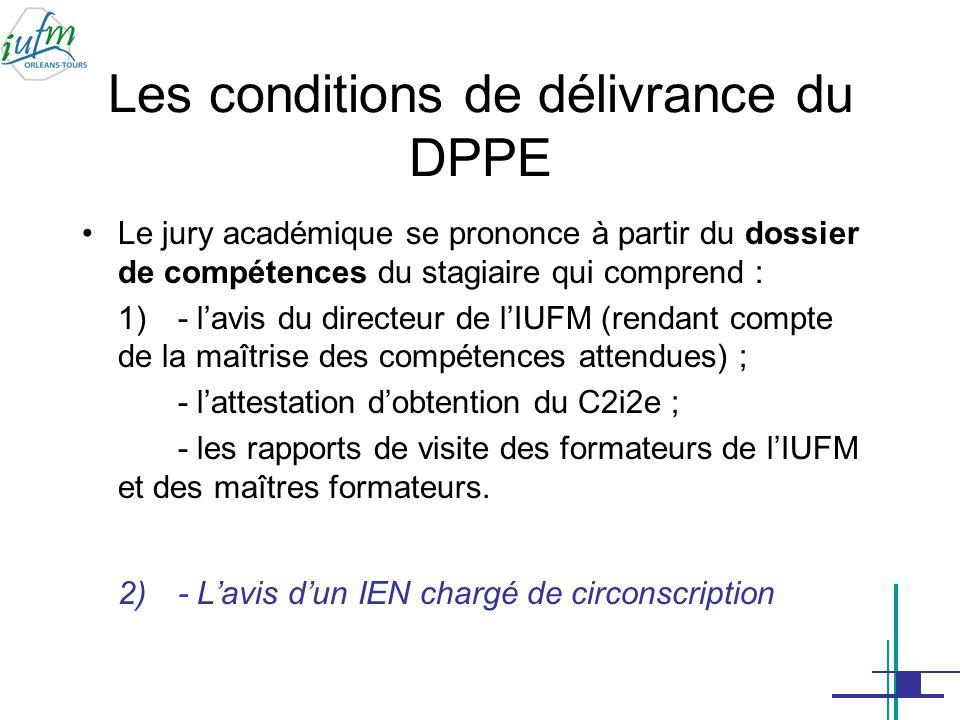 Les conditions de délivrance du DPPE