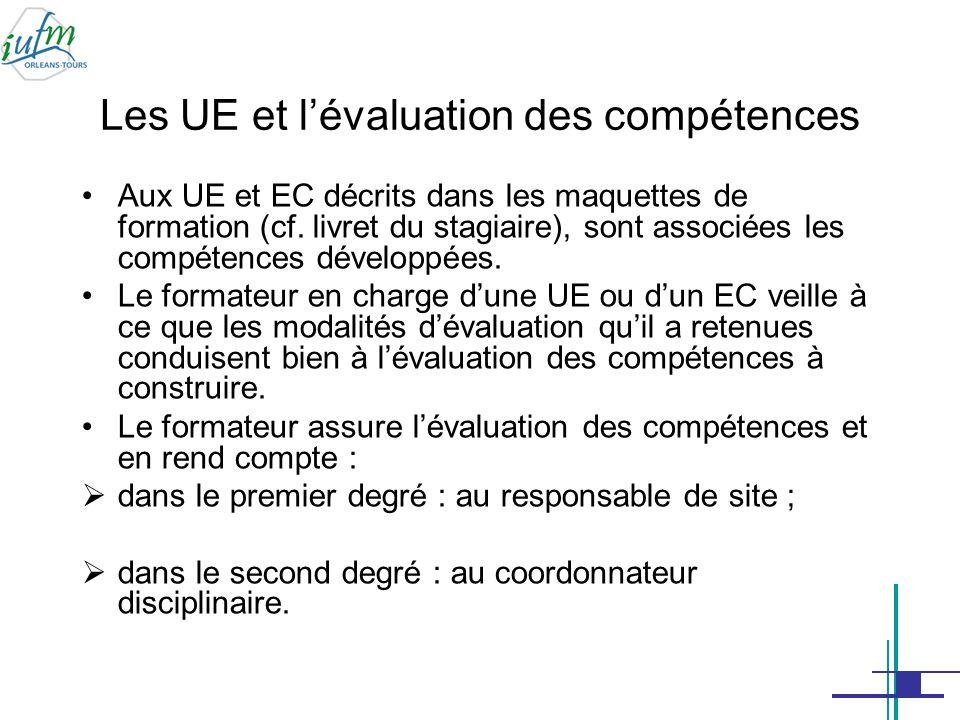 Les UE et l'évaluation des compétences