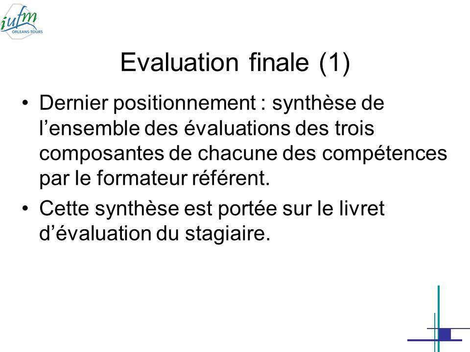 Evaluation finale (1)