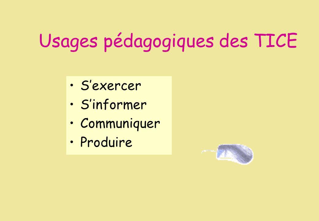 Usages pédagogiques des TICE