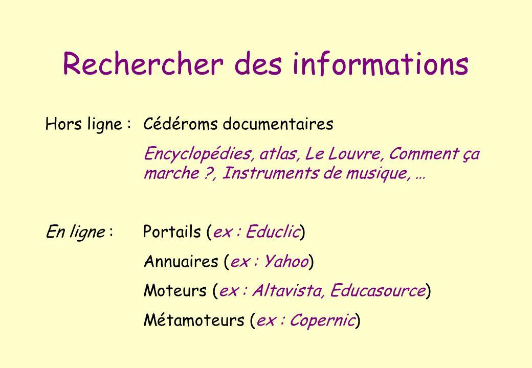 Rechercher des informations