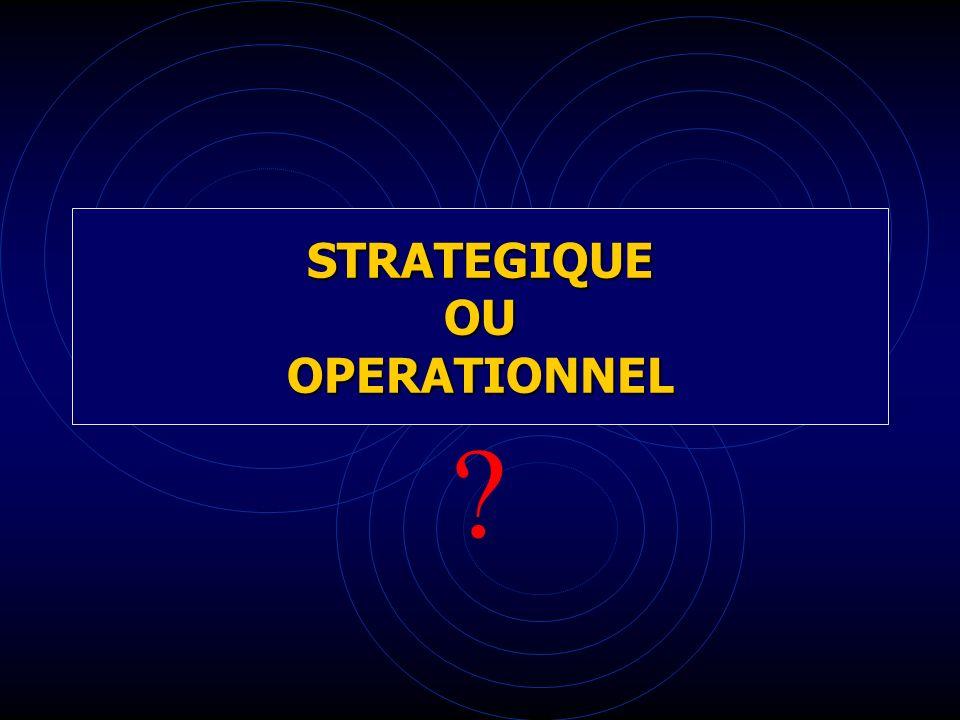 STRATEGIQUE OU OPERATIONNEL